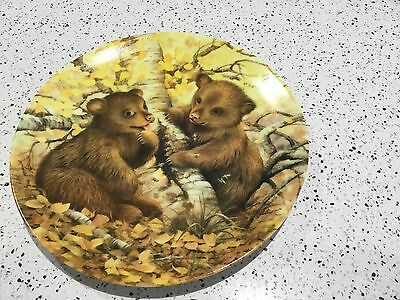 The Collector's Treasury BABY GRIZZLY BEARS plate