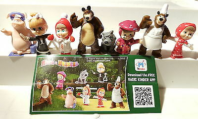 Masha and the bear 3, Masha 3, Russia, 2016, compl. set incl. all Bpz