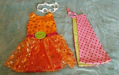 NEW LaLaLoopsy Dyna Might Super Hero Costume Dress up toddler 3t 4t