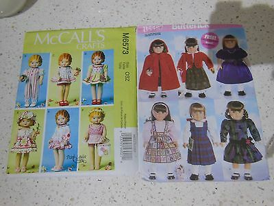 2 x Doll Clothing Patterns