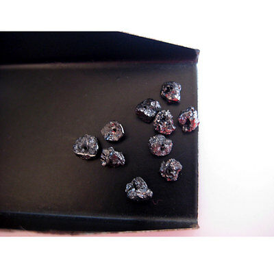 Black 1mm Drilled Rough Raw Natural Loose Diamonds Uncut 1 Piece 5mm DDS227