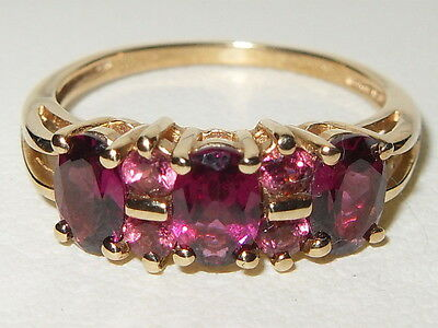 Gorgeous Qvc 9Ct Yellow Gold Rubellite Fancy Cluster Ring.