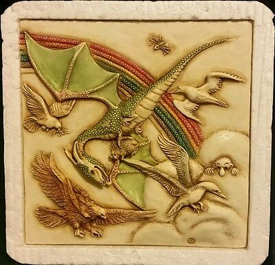 Flying Dragon Deco Tile Harmony Kingdom Noahs Park Picturesque Whirligig Rainbow