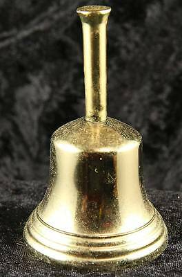 Brass bell 3.5 inches tall with clapper plain  collectable