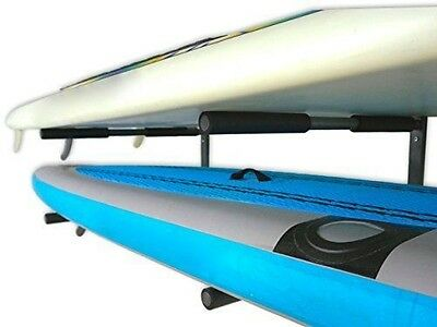SUP Paddleboard Wall Rack 2 Paddle Board Garage Indoor Storage Mount Heavy Duty