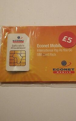 Econet Mobile International Pay As You Go Sim Card Pack