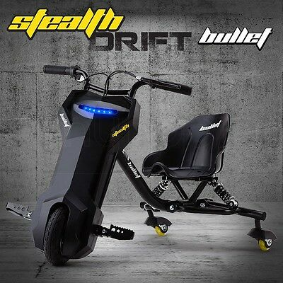 Bullet 2 Speed Electric Drift Scooter Trike - Stealth 1-3