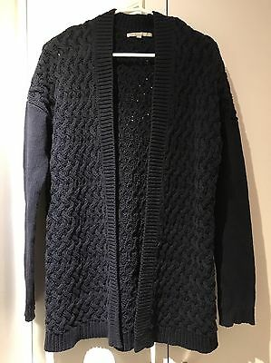 GAP Navy Blue Long Knitted Cotton Blend Cardigan Size Small (fits Size 12)