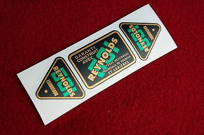 Reynolds 531 Green  French Text Replacement Tube Decal Set   L'eroica