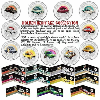 2016 HOLDEN HERITAGE Australian 50 Cent Coloured Coin Collection LImited Edition
