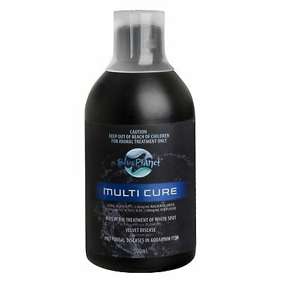 Blue Planet Multi Cure 500ml Treatment White Spot Velvet Disease Aquarium Fish