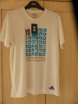 "New ""Adidas""  London Olympic Games 2012 Cotton T Shirt Size Small"