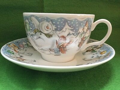 Royal Doulton Raymond Briggs The Snowman CUP & SAUCER-PARTY TIME 1985