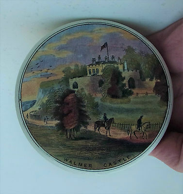 Prattware Pot Lid Walmer Castle Beautiful Print With A Base If Required