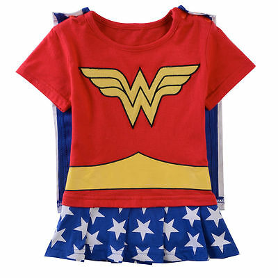 Baby Girls Wonder Woman Costume Newborn Cosplay Dress Infant Superhero Bodysuit