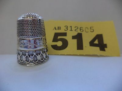 Vintage .925 Solid Silver Size 6 Thimble - Sheffield / R.C