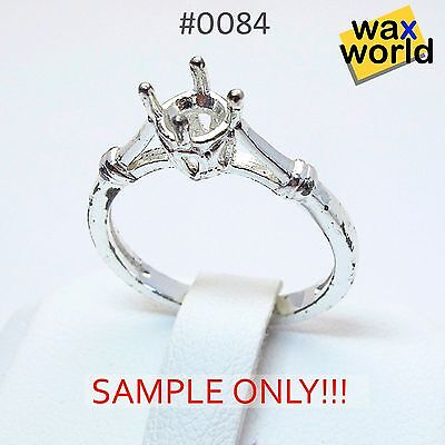 #0084 NEW Rubber Wax Casting Mold Jewelry Lost Wax Injection Casting ring