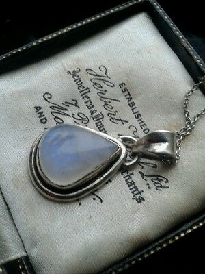 sterling silver moonstone pendant and chain