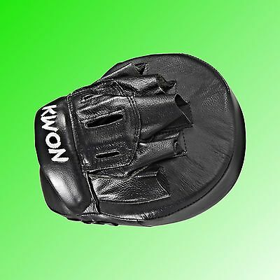 Coaching Mitt Twist Leder schwarz Kampfsport Vollkontakt Training KWON®