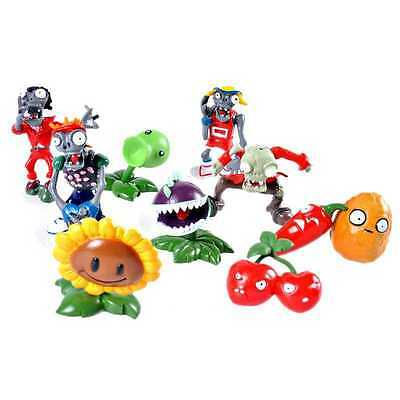 10pcs Plants vs. Zombies Game Bungee Zombie Action Figures Set PVC Toys Kid Gift