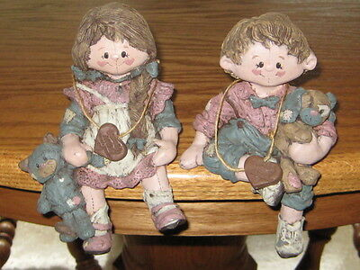 Sarah's Attic Granny's Favorites Polly & Opie shelf sitters. Rare, Hard to Find