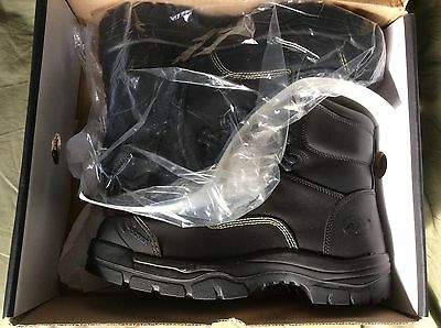 Oliver AT55 Mens Safety Work Boots Sz 11 Black New Steel Cap Lace & Side Zips