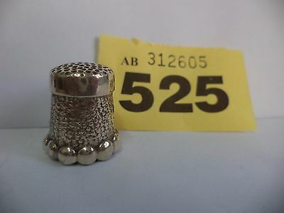 Vintage Continental / European .925 Solid Silver Thimble