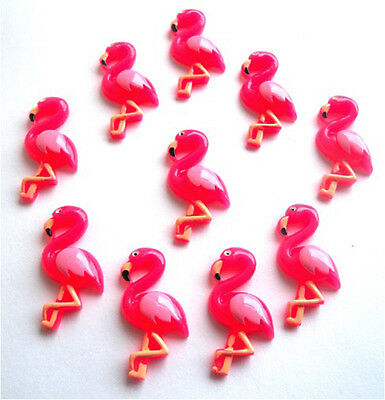 Gorgeous Pink Flamingo Flatback Embellishments Cabouchons - Fast Free P&P