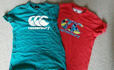 2 boys Canterbury T shirts age 12 excellent condition
