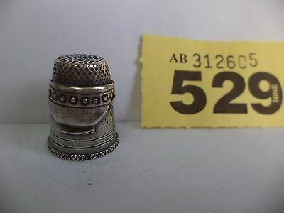 Continental / Scandinavian .925 Solid Silver Thimble with Tea Cup Decoration
