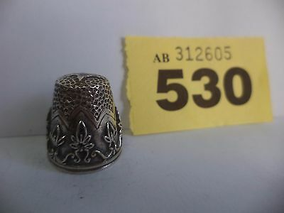 Vintage Continental / Scandinavian .925 Solid Silver Thimble
