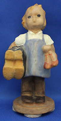 "Hummel Figure - ""Girl carrying Gum Boots and High-heel Shoes"" - RARE EARLY MODEL"