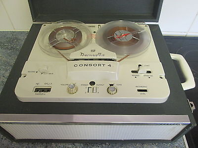Dansette Consort 4 Vintage Reel to Reel Tape Recorder. Fully Working & complete