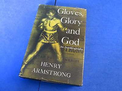 HENRY ARMSTRONG SIGNED BOOK ~ Gloves Glory & God ~ JSA Q22892 ~ RARE BOXING AUTO
