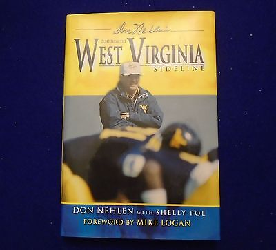 """Don Nehlen """"tales From The West Virginia Sideline"""" Signed Auto Hardcover Book"""