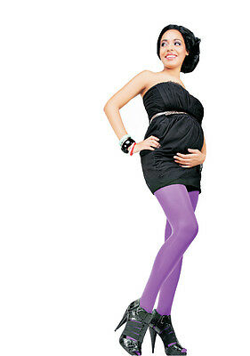 S uk8 VIOLET MATERNITY PREGNANCY TIGHTS 40 DEN COMFORTABLE DURABLE QUALITY