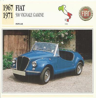 FIAT 500 VIGNALE GAMINE 1967-1971 original 2sided Edito collector's trading card