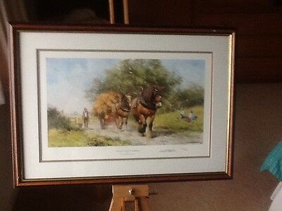 Last Load Of Summer. Signed Limited Edition Print By David Shepherd