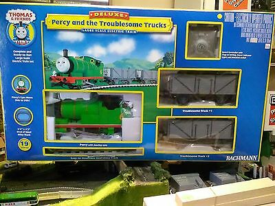 Bachmann Thomas the tank large scale 90069 Percy & Troublesome trucks train set