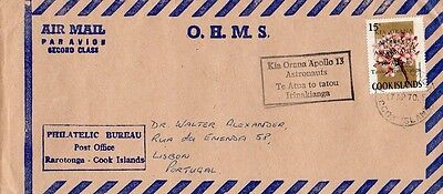 Cook Islands - Air mail Cover, Apollo 13, 1970