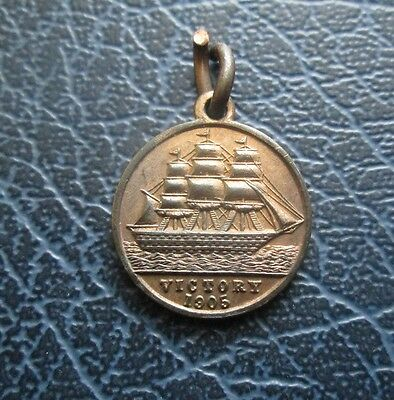 1905 Small HMS Victory Nelson Centenary Medallion - Made from Copper of Hull
