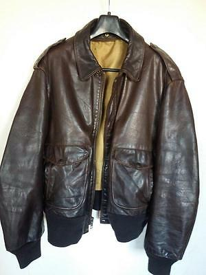VTG Schott A-2 Leather Flying Jacket (184SM) Aviator Coat Size 48