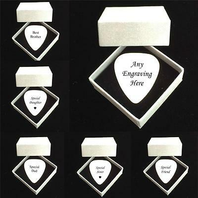 Personalised Guitar Plectrum, Pick with Any Engraving for Dad, Brother, Daughter