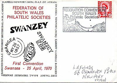 Event Cover South Wales, Swansea, Philatelic Convention, 1970