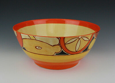 Clarice Cliff Sliced Fruit Footed Bowl.