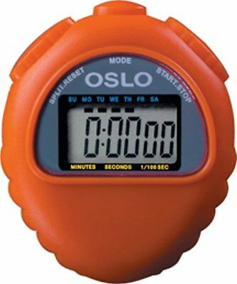Orange Oslo All Purpose Stopwatch With Time Calendar & Alarm Functions 1/100 sec