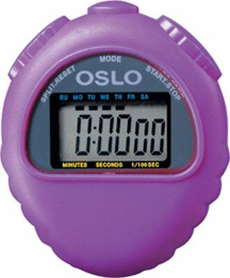 Purple Oslo All Purpose Stopwatch With Time Calendar & Alarm Functions 1/100 sec