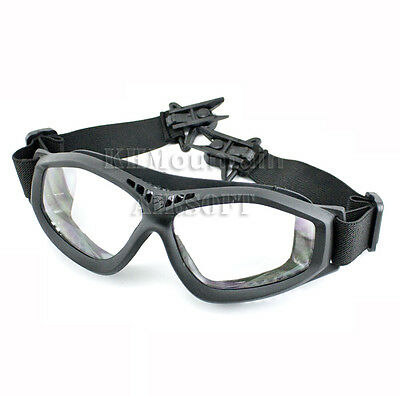 Dream Army Clear Glasses Goggles for FAST Helmet / Black(KHM Airsoft)