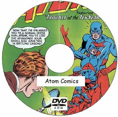The Atom Comics and The Atom and Hawkman Comics 46 Issues on DVD Silver Age