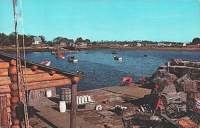 A Picturesque Maine Fishing VIllage postcard Posted Calais, ME 1964